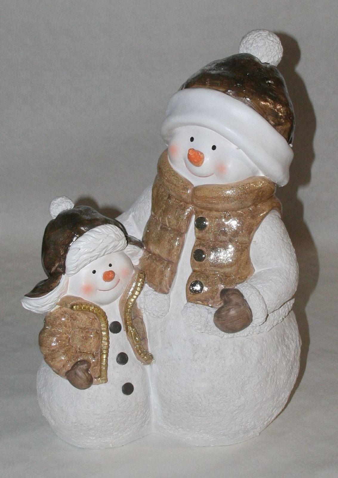 Dekation Schneemann 50 cm h Art 30,5 cm h i.e. Figur Weihnachten Deko