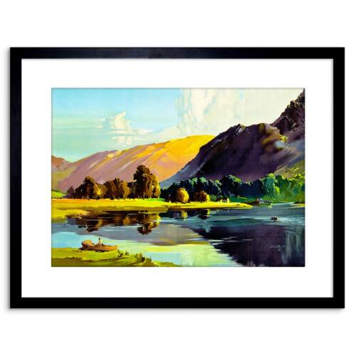 Arte Y Antig U00fcedades Pintura Lake District Cumbria Inglaterra Scenic Enmarcado Impresi U00f3n 9x7