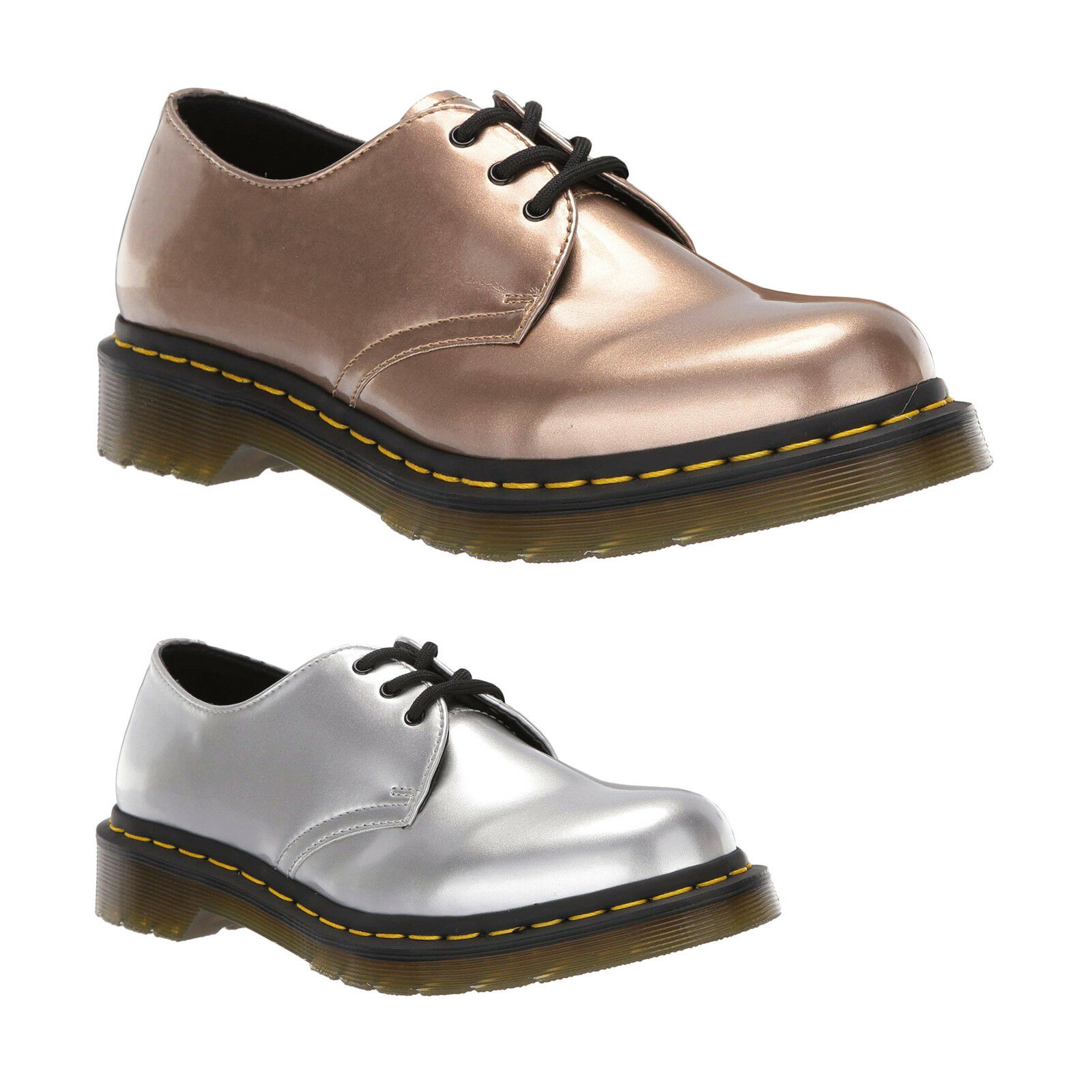 Dr. Martens 1461 Vegan Vegan Vegan Synthetic Casual Lace-Up Low-top Chaussures Femmes 0674f3