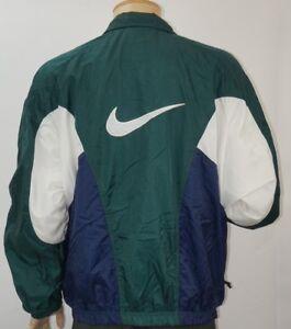 Chargement de l image en cours Vintage-Nike-Veste-Coupe-Vent-Sz-Grand-Bloc- 2c93c0486f0f