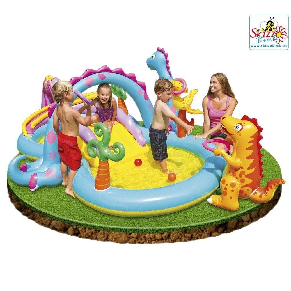Intex gioco gonfiabile Playcenter Dinosauri Piscina Gonfiabile Bambini