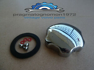 VOLVO AMAZON P1800 PV544 OIL FILLER CAP KIT CHROME PLATED