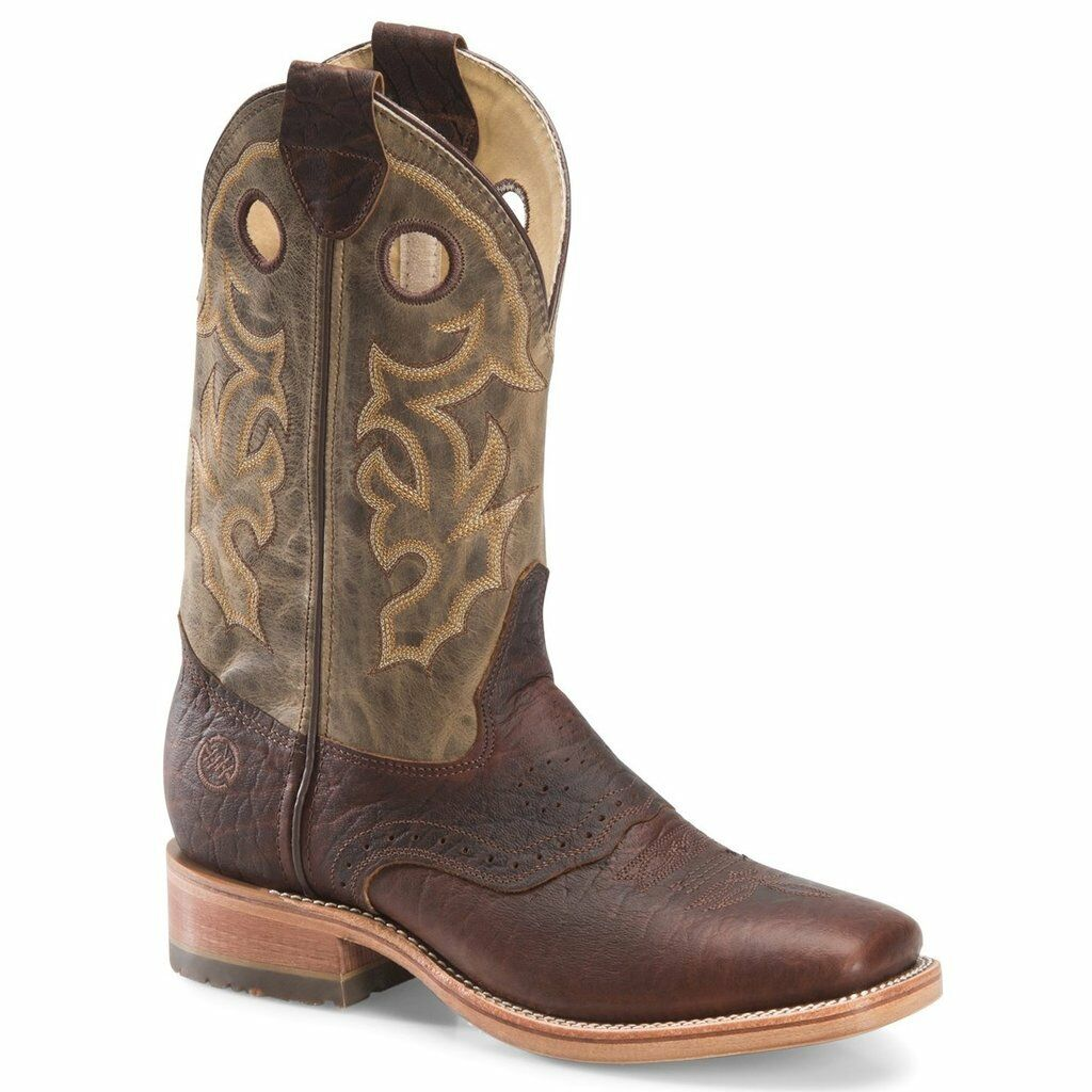 Double-H Men's Alec 12  Domestic ICE Square Toe Roper Boots DH4634