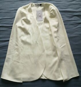 In-The-Style-Women-039-s-White-Maisy-Cape-Blazer-Jacket-Size-6-New-With-Tags