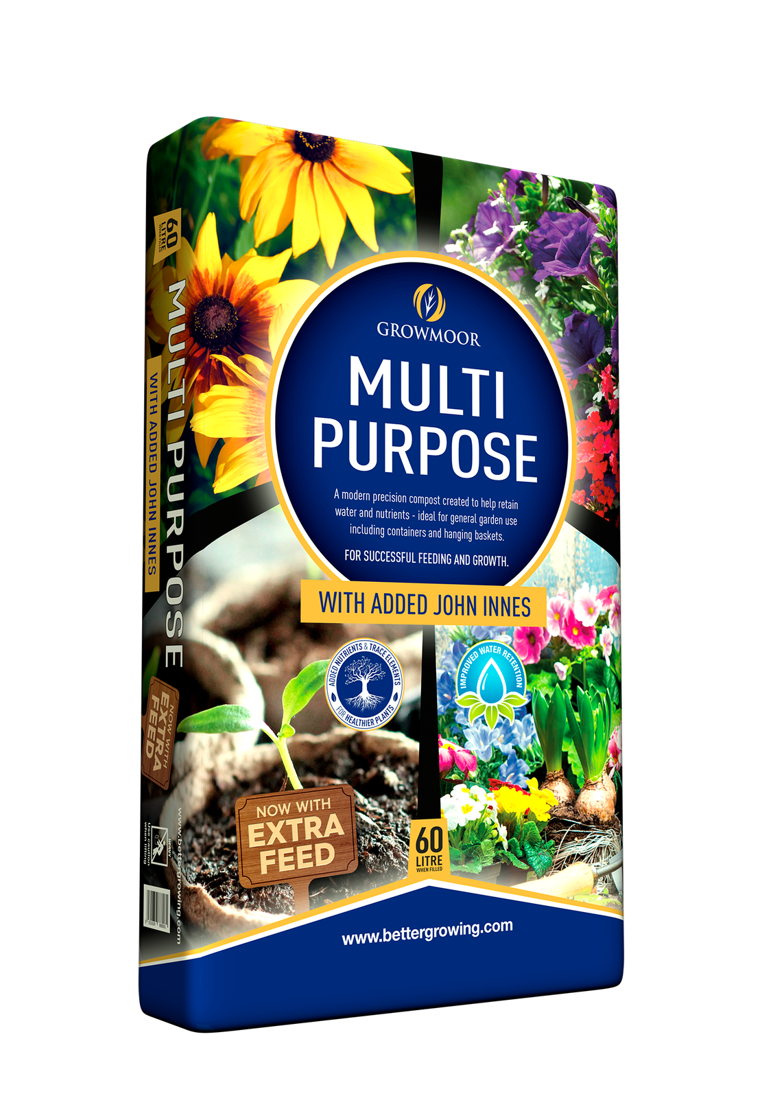 1 x 60L Multi Purpose Compost with added John Innes.