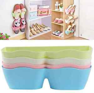 Novelty Wall Mounted Sticky Hanging Shoe Hook Shelf Rack Shoes