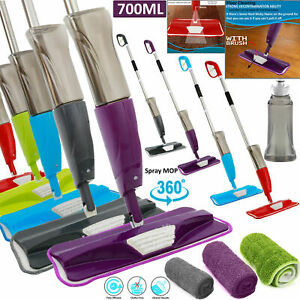 Water-Spray-Mop-Wet-Hard-Wood-Floor-Tiles-Cleaning-Microfibre-Pad-Flat-Cleaner