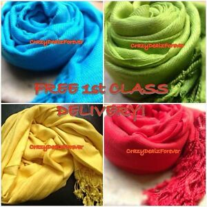 Pashmina-Shawl-Wrap-Stole-Scarf-FREE-FIRST-CLASS-DELIVERY-Buy-5-get-1-Free