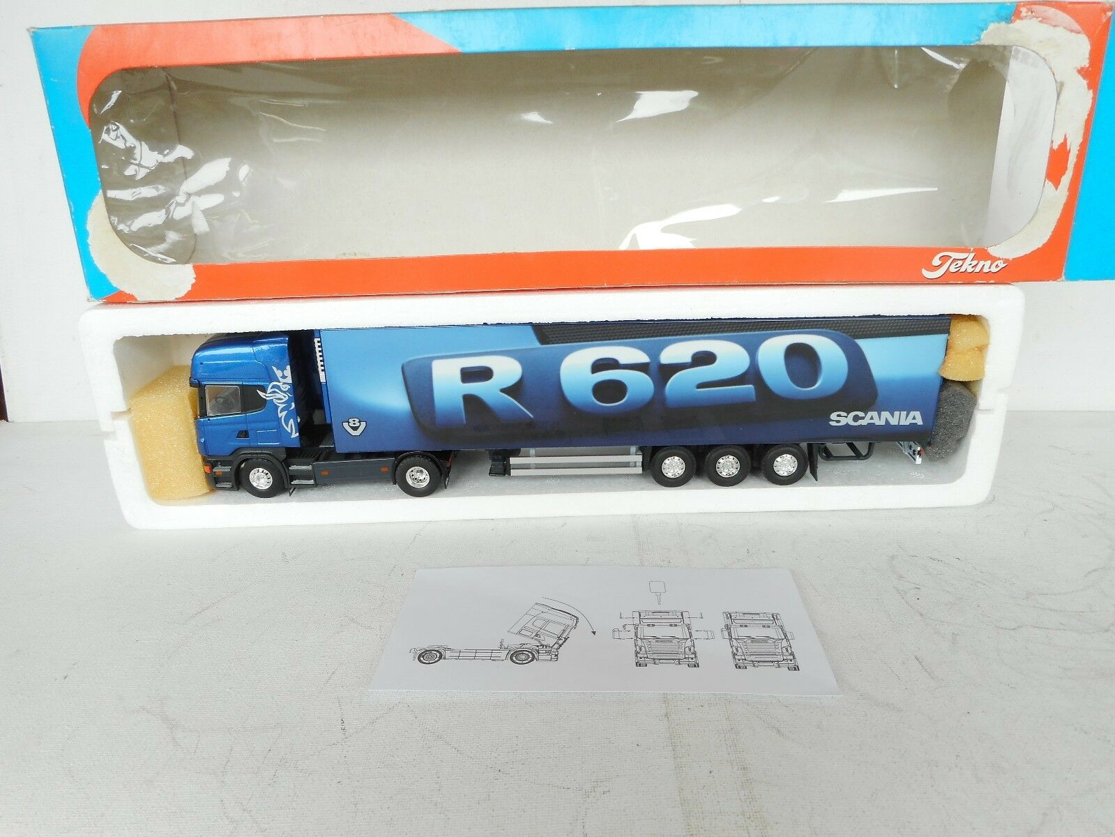 Tekno 1:50 SCANIA R 620  V-8  COOL TRAILER DEALER NEAR M BOXED