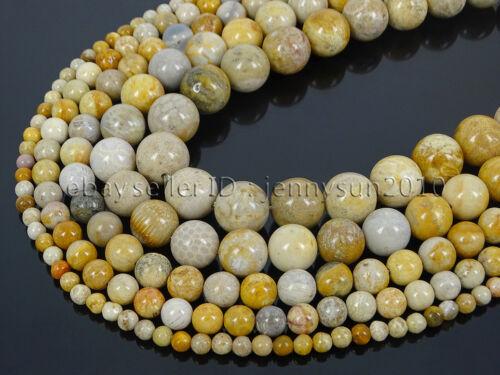 Natural Chrysanthemum Stone Gemstone Round Spacer Beads 15.5/'/' 4mm 6mm 8mm 10mm