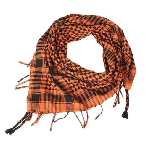 Mens Womens Houndstooth Arab Tactical Scarves Wrap Scarf KeffIyeh Shemagh Desert