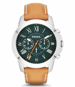 Fossil FS4918 Brown Leather Strap Men's Chronograph Watch