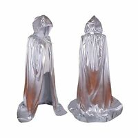 Colorful House Unisex Full Length Hooded Cape Costume Cloak Sil... Free Shipping