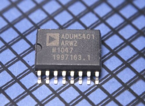 Analog Devices ADUM5401ARWZ 4 Channel Isolator w// DC-DC Converter SOP-16