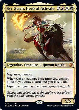 Foil Near Mint Throne of Eldraine Hero of Ashvale MTG Magic Syr Gwyn