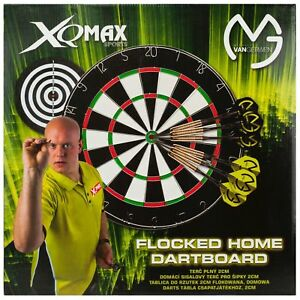 New-XQ-Max-Sports-Dartboard-Michael-Van-Gerwen-Flocked-Home-Set-with-6x-Darts