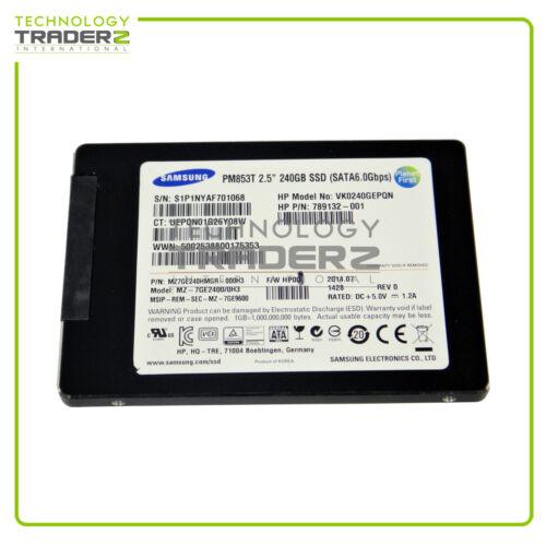 "MZ7GE240HMGR-00003 Samsung PM853T 240GB SATA 2.5/"" Enterprise SSD Drive* Pulled *"