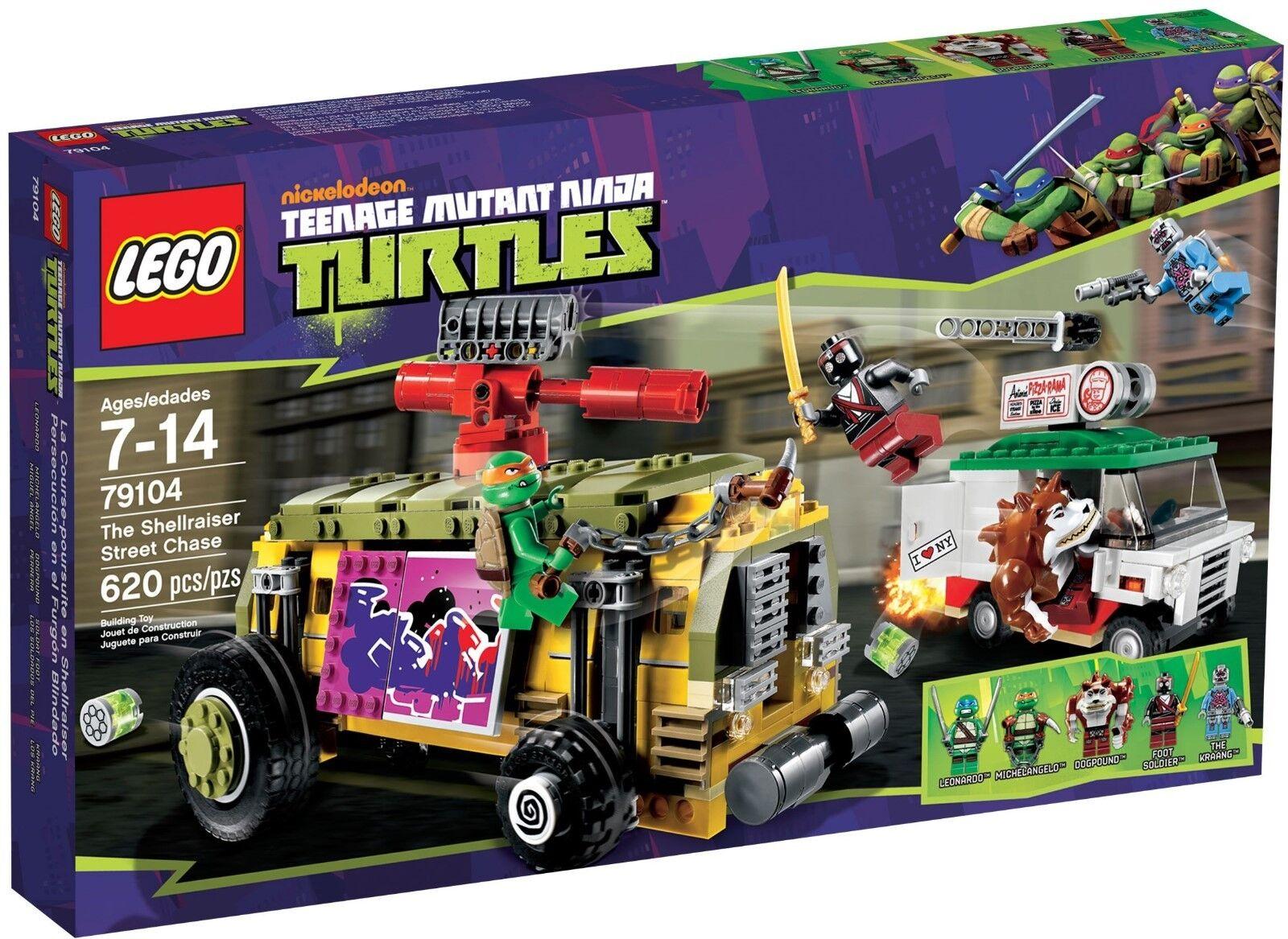 LEGO 79104 Ninja Turtles  SHELLRAISER STREET CHASE  Rare Rare Rare DOGPOUND New Sealed Box 501291