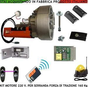 SARACINESCA-KIT-AUTOMATISMO-PER-SERRANDA-160-KG-MOTORE-220-V-RAD-CENTR-FOT-LAMP