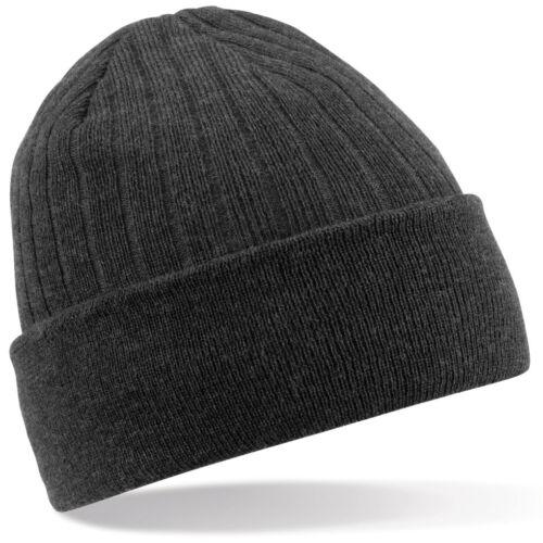 Innen Fleece Beechfield Mütze Beanie BESTICKT mit Namen individuell  Biker Hat