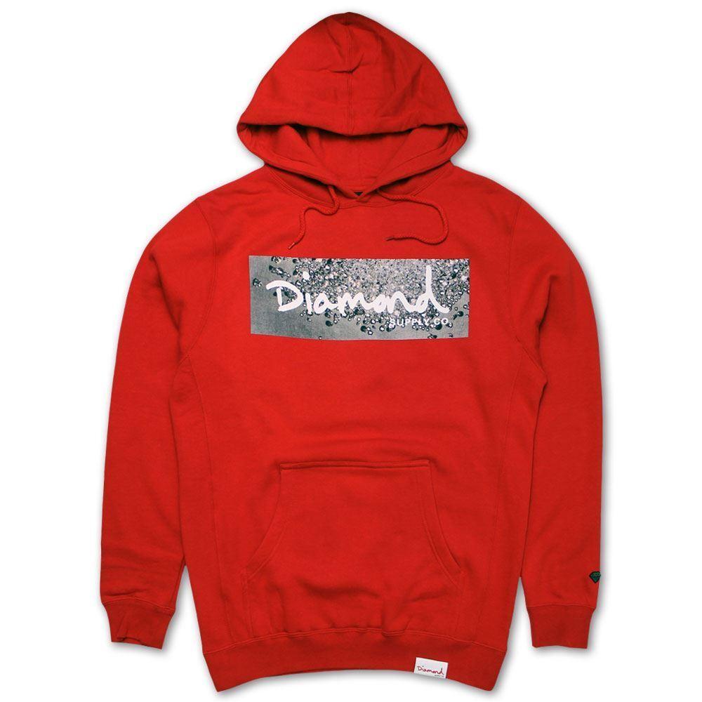 Diamond Supply Co Scatter Box Logo Hoodie Rot