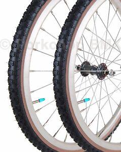 "Kenda Comp 3 III old school BMX skinwall gumwall tires 24/"" X 2.125/"" RED PAIR"