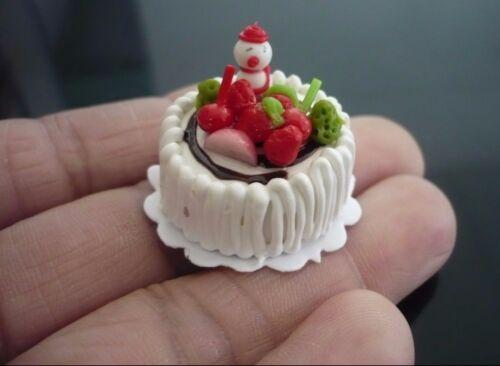 13 Snowman Christmas Cake Dollhouse Miniature Food Bakery Holiday X/'mas