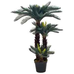 vidaXL-Artificial-Plant-Cycas-Palm-with-Pot-Green-125cm-Realistic-Greenery