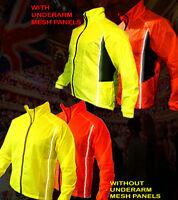 HIGH VISIBILITY /HI VIZ WATERPROOF CYCLING JACKET, FREE SAME DAY LONDON DELIVERY