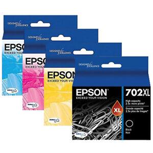 GENUINE-Original-Epson-702XL-4-Ink-Cartridge-Value-WorkForce-Pro-WF-3720-WF-3725