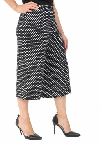 LADIES WOMEN WIDE LEG CULLOTES 3//4 SHORT PANTS  3//4 CASUAL LOOSE TROUSERS