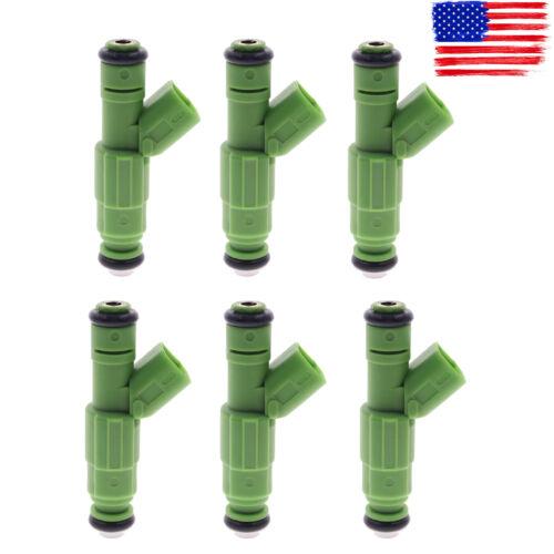 6 pcs Fuel Injectors For Jeep Cherokee Wrangler Grand Cherokee TJ 1999-4.0L EV6