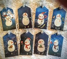Snowman & Snowflake~8 Hang Tags~Scrapbooking~Cards~Pen Pals~#165~judysjemscrafts