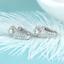Delicated 2.50Ct Round Cut D//VVS1 Diamond Hoop Earrings 14K White Gold Finish