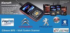 TOP OBD2 iCarsoft i970 Citroen Fault Code Scanner Reset Diagnostic Airbag