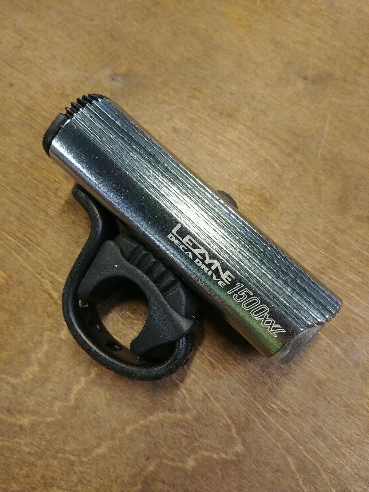 Lezyne Deca Drive 1500i Kit w// Infinite Power Pack Bicycle Headlight Light Black