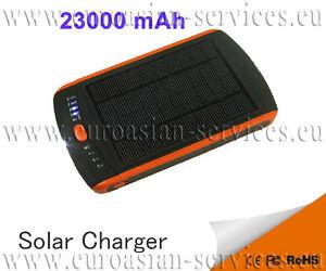 Solaire-PowerBank-23000-mAh-5-19-V-DC-USB-Mobile-Batterie-DEL-24-xzubehor-pour-PC-portables
