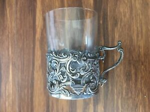Set-of-6-antique-old-coffee-glass-cups-with-sterling-silver-holders-1900-London