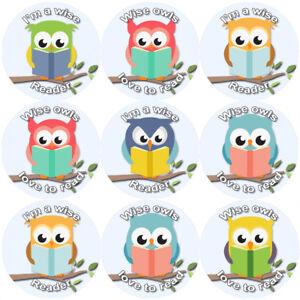 144-gufi-di-lettura-30-mm-Reward-Adesivi-per-la-scuola-insegnanti-genitori-Nursery