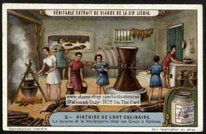 Ancient-Greek-Kitchen-And-Bakery-Cook-Food-History-1920s-Trade-Ad-Card