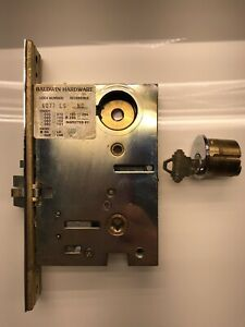Emergency Egress Mortise L Baldwin 6375.LLS Left Handed Lever Strength Entrance Satin Brass and Brown