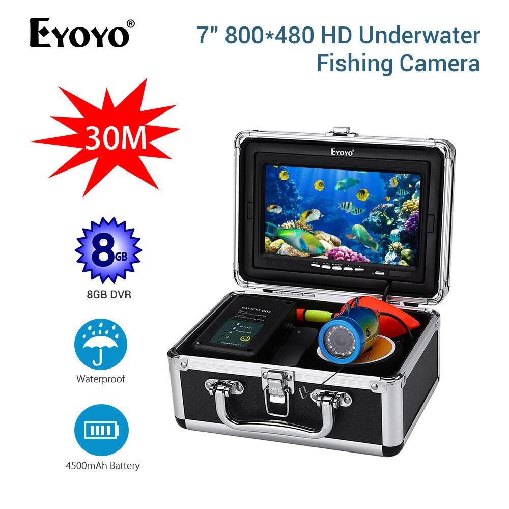 Eyoyo 7  bajo el agua Video Cámara 8GB Dvr 1000TVL 30M 4500mAh Batería Buscador de los pescados
