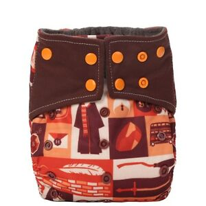 Baby-Pocket-Cloth-Diaper-Nappy-Cover-Charcoal-Bamboo-Reusable-2-Gusset-Harry