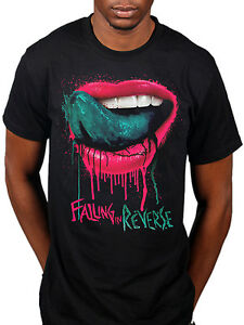 official falling in reverse dripping lips tshirt rock