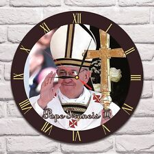 Reloj De Pared Pope Francis Color Vinyl Record De Diseño Playroom Tienda Oficina Club 1