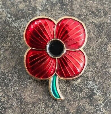4 FOUR PETAL RED POPPY ENAMEL PIN BADGEREMEMBRANCE DAY SUNDAY 2019CHARITY