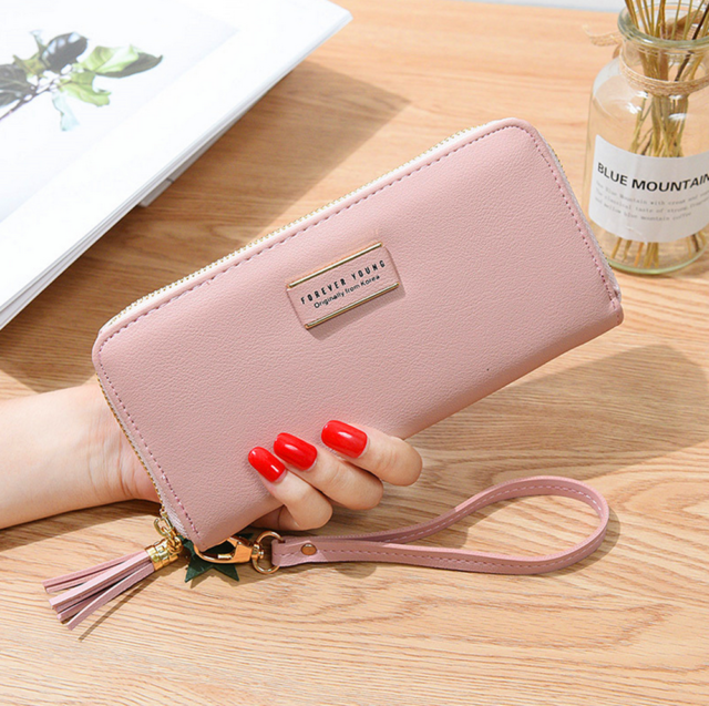ACHKL First Layer of Leather Zipper Wallet Long Section of The  AliExpress Explosion Models Miss Qian Bao Clutch Color : Black, Size : One Size
