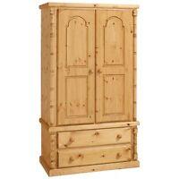 Pine Furniture Canterbury 2 Wardrobe Antique Wax No Flat Packs