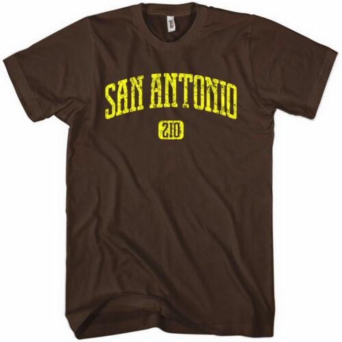 NEW XS-4XL Area Code 210 SAN ANTONIO T-shirt Texas Spurs