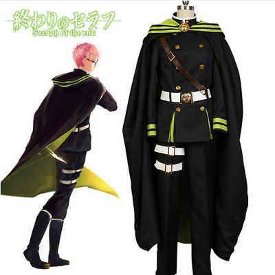 Owari no Seraph of the End Yuichiro Hyakuya Outfit Cosplay Costume Attire+Cape